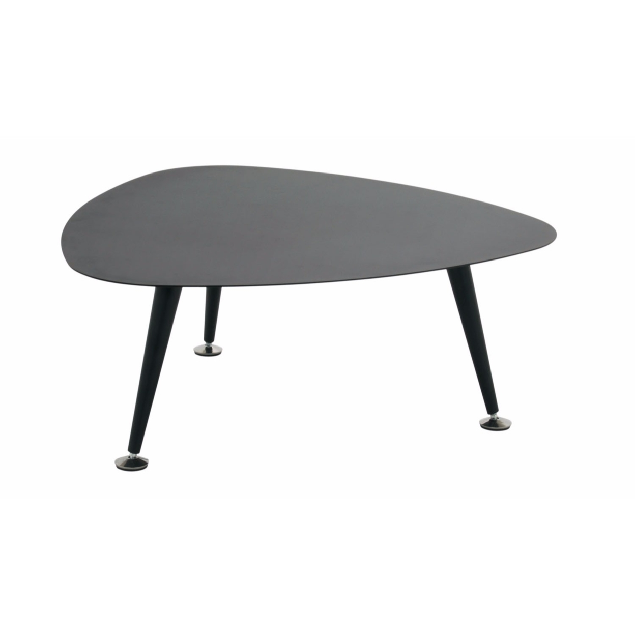 Offex Trilateral Accent Table 29, Black (1)