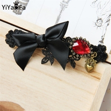 YiYaoFa Handmade Hair Jewelry  Gothic Jewelry Bow Clip Hair Accessories Vintage Women Accessories Hairpin FJ-70