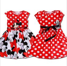 Summer 2016 Girls Dress Tutu Princess Baby Minnie Mouse Dress Dot girl clothing Casual Party Dress for girls