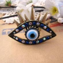 Min. order $10 ! Free shipping!  Blue Crystal Heart Eyes Ring Eyelashes Jewelry. Manufactory Sale Fashon Accessories