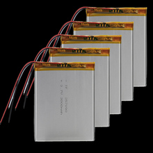 5 pcs 3.7V 3000mAh Li-Polymer Battery PCM Rechargeable For GPS PDA ipod Tablet PC 357090 MP3 MP4 Bluetooth/GPRS/GPS mobile phone