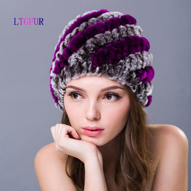 LTGFUR New Style Genuine Knitted Rex Rabbit Fur Hat Natural Rabbit Fur Caps Fashion Women Beanies Headgear Various ColorsОдежда и ак�е��уары<br><br><br>Aliexpress
