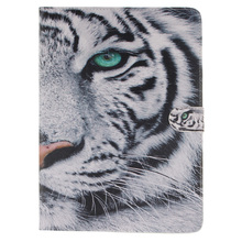 Tiger Printing PU Leather Flip Case for Apple iPad air 2 iPad mini 4 iPad 2 3 4 5 6 iPad Pro 9.7 Cover Case With Card Holder