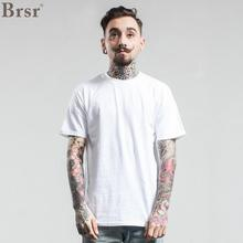 Brsr Europe And The United States New 2017 Men's Cylinder Seamless Short-sleeved Black T-shirt Cotton Men's Short Sleeve