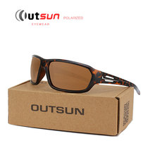 OUTSUN 2017 Fashion Outdoor Sport Sunglasses Men Polarized Fishing UV400 Sun Glasses Polaroid Original Oculos De Sol Sunglass(China)