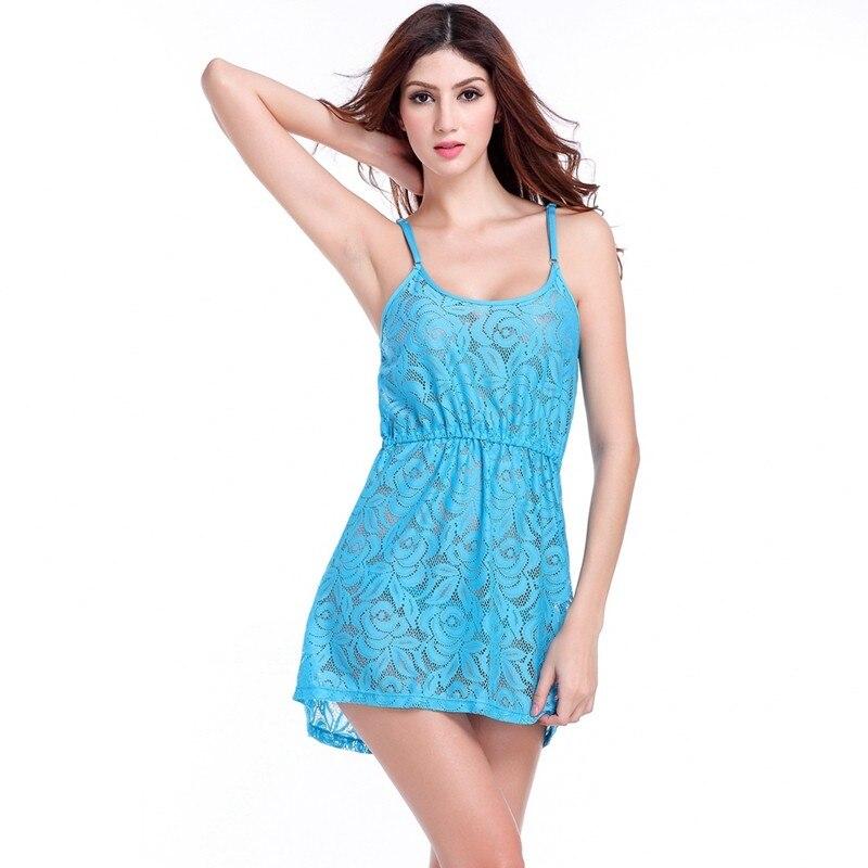 17 Adjustable Spaghetti Dress Tunic for Beach Slim Fit Waist Wrinkle Cover-Ups Sexy Women Plus Size Lace Tunic Beach Dress 10