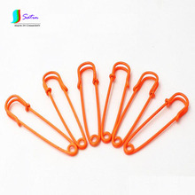 Orange/Green Color Simple and Safe Big Brooch Pins, Shawl Sweater Buckle, Colorful Big Brooch Pins, 5cm, 12pcs/lot S0002J(China)
