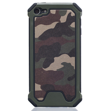 Dual Layer Armor Military Camouflage PC Phone Case For Apple iPod Touch 5 6 Ultra Slim Soft TPU Shockproof Protective Back Cover