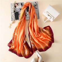 2017 Latest Spain Luxury Brand Lovely Animal Horse Silk Shawl Scarf Beach Bandanas Foulard Sjaal Women Wrap Snood Hijab Cap(China)
