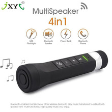 Hot sale JXYC portable Multifunction LED Outdoor Bicycle Bluetooth music Flashlight Speaker Mobile Power TF Card MP3 FM Radio
