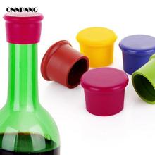 3pcs/lot Silicone Wine Stopper Flip Top Fresh-keeping Bottle Cap Wine Bottle Stopper Red Wine Bottle Beer Bar Tools(China)