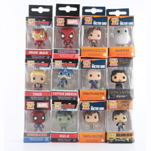 Funko Pop Marvel Super Hero Keychain Figure Deadpool Captain America Walking Dead Game of Thrones Hulk Spiderman Harry Potter