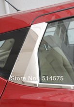 Chrome Stainless Steel Center Window Trim C Pillar Fit For  Nissan Qashqai Dualis 2007 2008 2009 2010 2011 2012