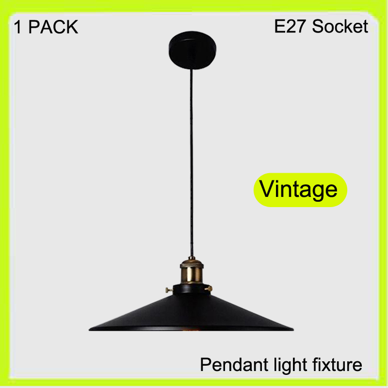 Manufacturer Vintage pendant light fixture E27 screw 110cm wires down lights fitting 100% copper NOT INCLUDED ST64 led bulbs<br>