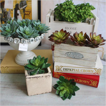 Keythemelife Hot Succulents Plants Green Lotus Artificial Flowers Ornaments Simulation Plants DIY Garden Home Decor C5