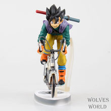 Action Figure Bandai Soul limited DRAGON BALL Goku Cycling 23cm PVC Battle Version Doll Toys Cartoon Collectible Model Anime(China)
