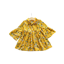 Kids Girls Chiffon Dress Casual Party Hot Summer Layered Sleeve Dresses With Bow Baby Girl Flower Dress Children Girls Blouses(China)