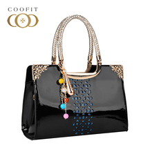 Coofit The New Brand Handbags Lady Stylish Elegant Tote Bags Unique Womens PU Leather Women Bag Patent Korea single Shoulder Bag(China)