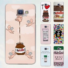 funny Chills Pills Chocolate Nutella style transparent clear phone shell case for Samsung Galaxy A8 A9 A5 2017 A3 A510 A7 2017
