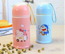 Cartoon Hello Kitty Doraemon Owl Fox Ceramic Water Bottles Lady Girl 280ML Water Kettle(China)