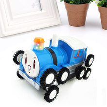 Fashion Toy Car Train Locomotive Plastic Toy children Kids Flash With Music(China)