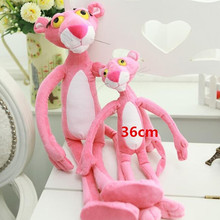 "1pcs 14.2"" 36 CM NICI Cute Pink Naughty Leopard Pink Panther Plush Stuffed Toys Baby Kids Doll Brinquedos  Free Shipping"