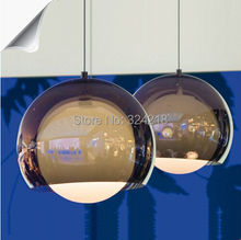 Fashion restaurant lamp brief modern lamp bar counter personalized lighting lamps design light pendant glass ball kind