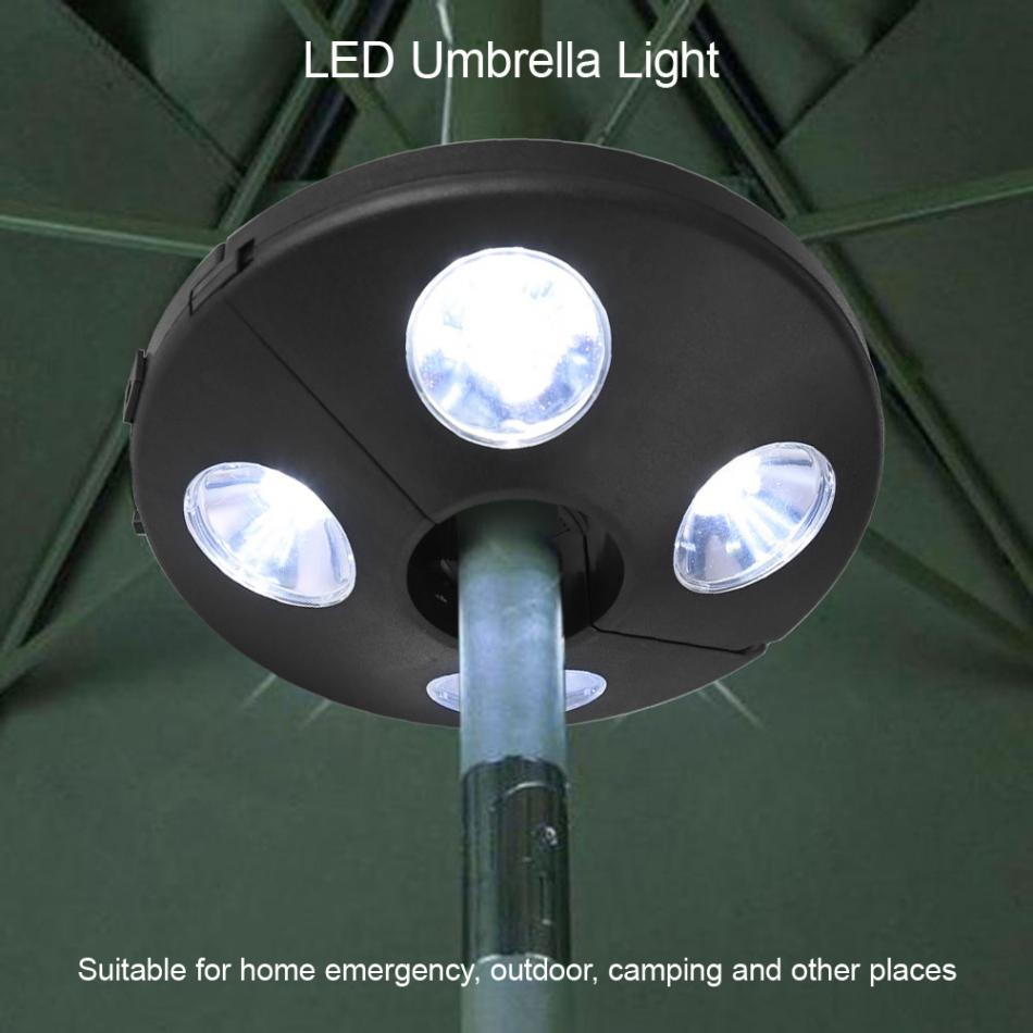 Home Responsible 3 Light Mode Pole Patio Umbrella Light 24 Led Bulb Battery Operate Light For Yard Garden Tent Camping Wireless Outdoor Lighting
