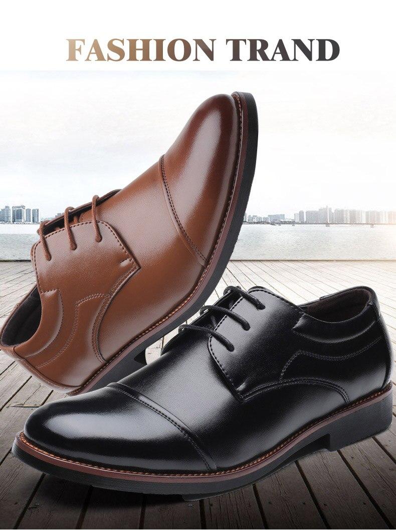 احذية جلدية رجالي لينة عالية الجودة  الحجم 39-48 2