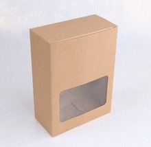 22*16*8CM Paper Box with Window Bakery Cake Gift Packaging Box Carton Box Can Be Print Your Logo. 100pcs/lot