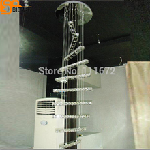 new modern LED crystal chandelier  large contemporary chandelier pendant staircase lighting