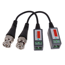Hight Quality 10x CCTV Camera Passive Video Balun Transceiver BNC Connector Coaxial Cable   FC