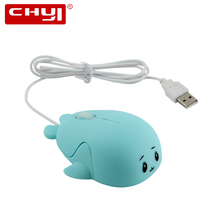 CHYI Wired Mouse Ergonomic 1600DPI USB 2.0 Cable 3 Buttons Killer Whale Orca Dolphin Free Willy Mice 3 colors For PC Laptop Gift(China)
