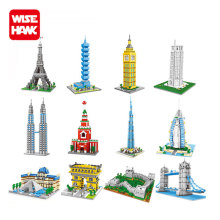 Wisehawk nano blocks world architecture China factory London Bridge plastic building bricks diy model educational toys for kids.