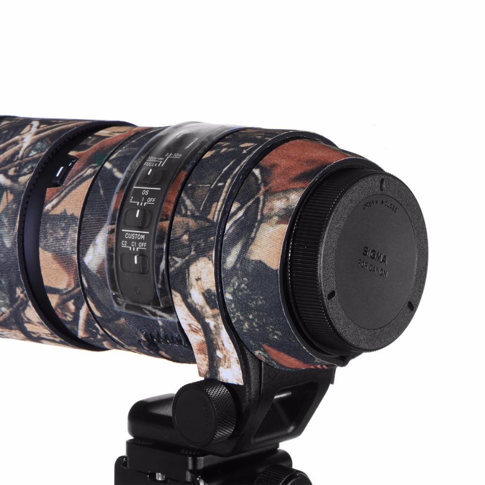 Contemporary Rubber Camouflage Neoprene Lens Coat Waterproof Lens Protective Coat Cover Camo Case For Sigma 150-600mm C version (2)