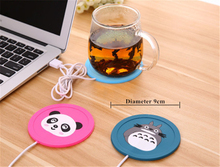 Hot sale USB Silicone Heat Warmer electric Insulation coaster Cup Warm Flake Heater Mat Pad for Milk Tea Coffee Mug Beverage(China)