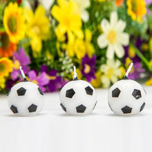 Hot Sale Personality Boy Football Candle Fan Craft Birthday Candle Cake Shop Baking Decoration Party Festive Supplies(China)