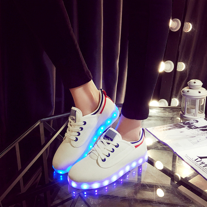 Colorful LED Luminous light shoes for children boys girls casual running shoes kids USB charging light shoes men and women shoes<br><br>Aliexpress