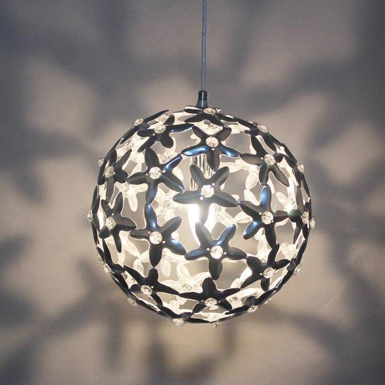 Modern personality five-pointed star ball pendant light ofhead fashion single head circle pendant light<br><br>Aliexpress