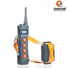 Free shipping Aetertek Dog Shock Collar AT-919C-1 Rechargeable Remote Control Dog Training Collar 1000M Range with LCD Display(China)