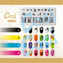 1pc Template Stamping Plate Sea Theme Shell Whale Starfish Image Plate Nail Art DIY Nail Stamping Plates Template cooi-023