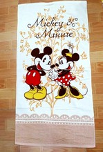 60*120cm Cartoon White Mickey and Minnie Towels baby bath towel Children Beach Bath Towel Cartoon Princess Girls Bikini Covers