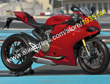Hot Sales,For Ducati 1199 1199S ABS Parts 2012 2013 2014 899 12-14 Full Red Aftermarket Motobike Fairing Kit (Injection molding)