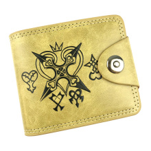 Kingdom Hearts Fashion Men Women Wallets carteira Leather Card Holder Purse Gift Kids Anime Cartoon Short Wallet(China)