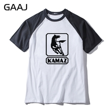 Kamaz Truck Car Logo Man & Women Unisex T-Shirt Hit Color Collar Mens Automobile O Neck T Shirt Men Tops Tees Funny Streetwear(China)
