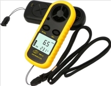 GM816 30m/s (65MPH) LCD Digital Hand-held Wind Speed Gauge Meter Measure Anemometer Thermometer(China)