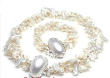 xiuli 00267 QUEEN VOGUE FRESHWAER PEARL NECKLACE BRACELET bride jewllery SET(China)