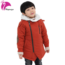 Childrens' Jacket Fashion Winter Jacket Boy Add Cotton Cashmere Warm Hooded Kids Fur Coats Outwear Children's Jacket For A Boy(China)