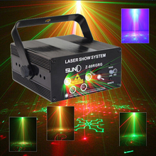 2015 LED Laser Stage Lighting 5 Lens 80 Patterns RG Mini Led Laser Projector 3W Blue Light Effect Show For DJ Disco Party Lights(China)