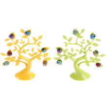 Multifunctional Great Lucky Tree Desktop Cute Memo Clips Photo Note Holders Decoration Magnetic Plastic Table Card Holders(China)